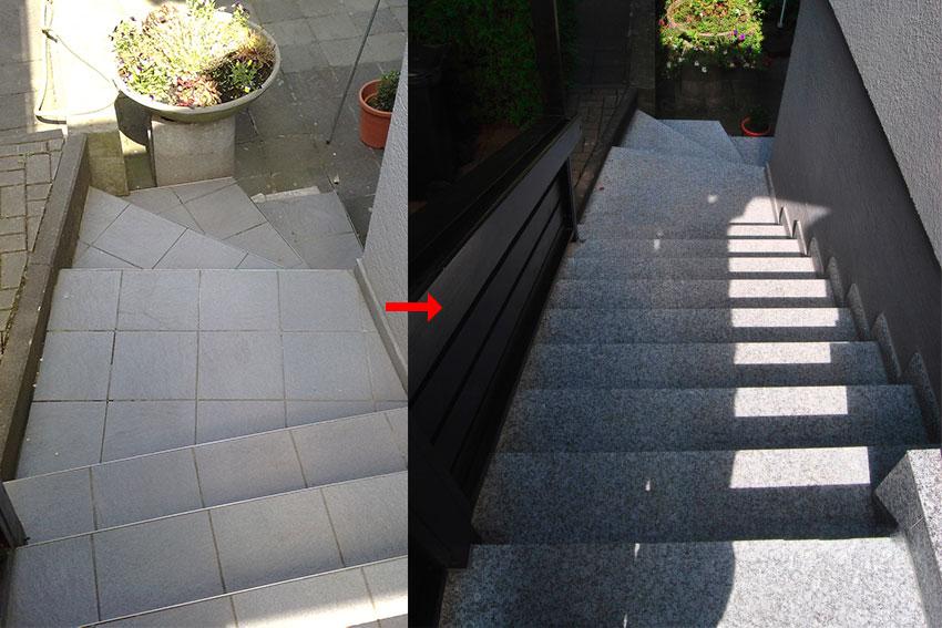 Galerie-Fliesen-Bischoff - Treppe im Aussenbereich